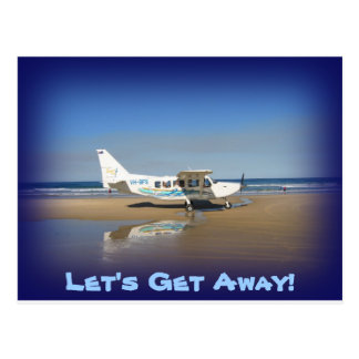 Let's Get Away Postcard