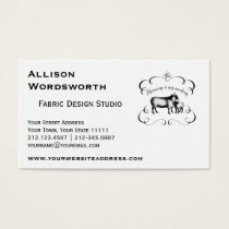 Let's Get Back to Our Sheep - Funny Vintage Farm Business Card