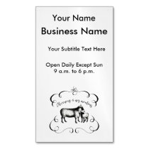 Let's Get Back to Our Sheep - Funny Vintage Farm Business Card Magnet