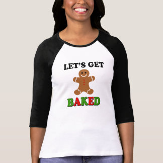Let's Get Baked funny Christmas smoke weed shirt