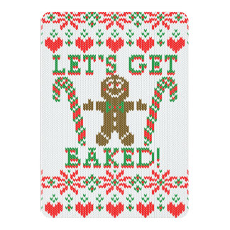 Let's Get Baked The Gingerbread Cookie Says Card