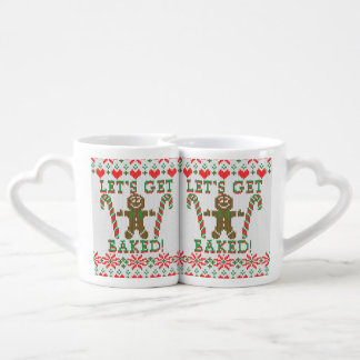 Let's Get Baked The Gingerbread Cookie Says Couples' Coffee Mug Set