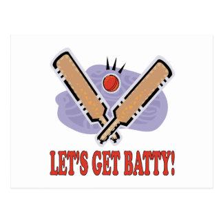 Lets Get Batty Postcard