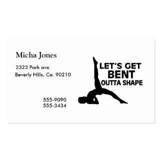 Let's Get Bent Outta Shape Yoga Business Card Templates