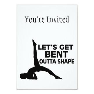Let's Get Bent Outta Shape Yoga Card