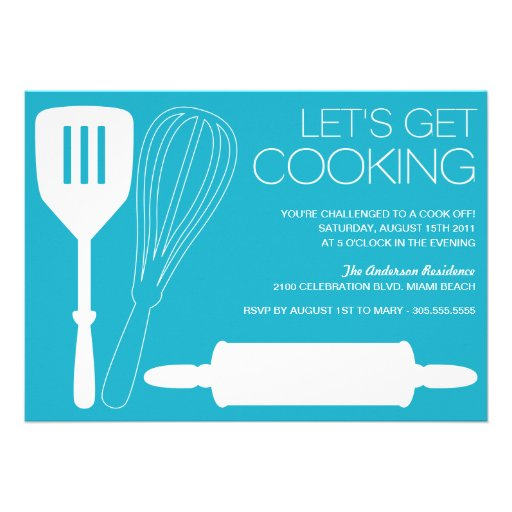 LET'S GET COOKING | COOK OFF PARTY INVITATIONS