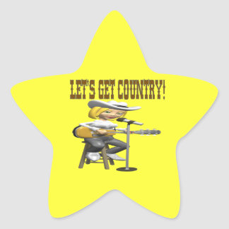 Lets Get Country 2 Star Sticker