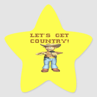 Lets Get Country Sticker