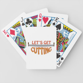 Let's Get Cutting Bicycle Playing Cards