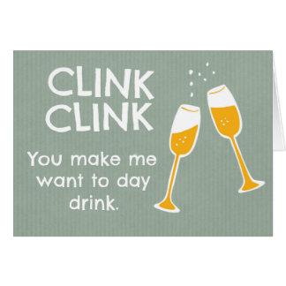 Let's get drunk card