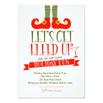 Let's get Elfed Up Christmas Party Invitation