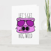 Let's Get Hog Wild Holiday Card