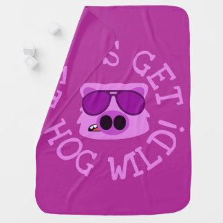 Let's Get Hog Wild Swaddle Blanket