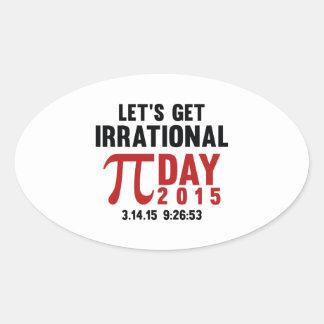 Let's Get Irrational Oval Sticker