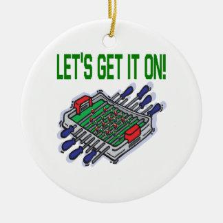 Lets Get It On Ceramic Ornament