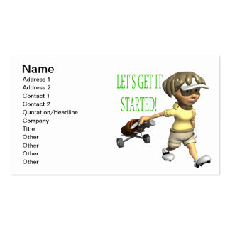 Lets Get It Started Business Card
