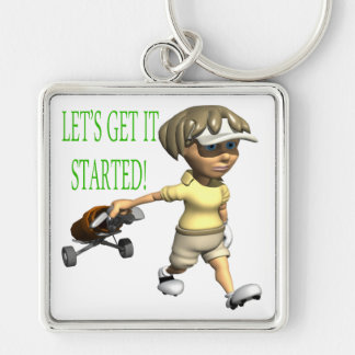 Lets Get It Started Keychain