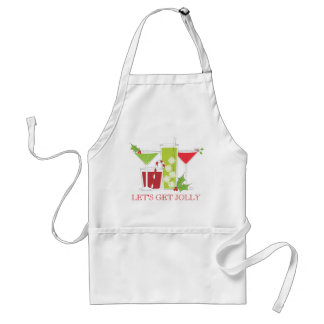 Let's get Jolly Christmas Cocktails Adult Apron
