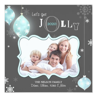 Let's Get Jolly Modern Holiday Photo Card