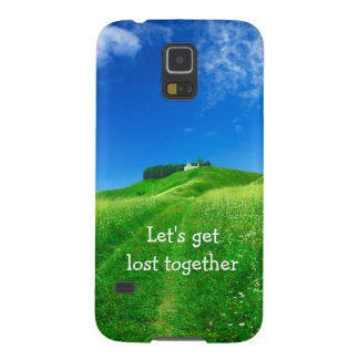 Let's get lost together quote way background galaxy s5 cover