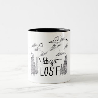 Let's Get Lost Two-Tone Coffee Mug