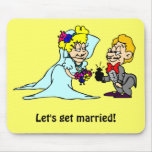 Let's get married mouse pad