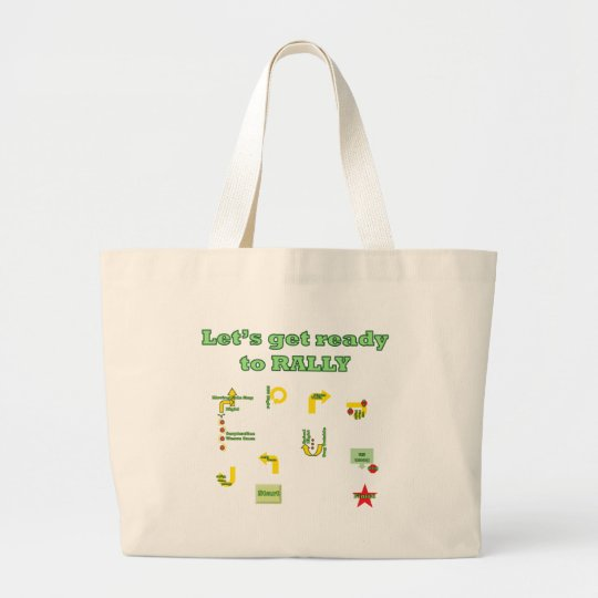 Let's Get Ready To Rally Large Tote Bag