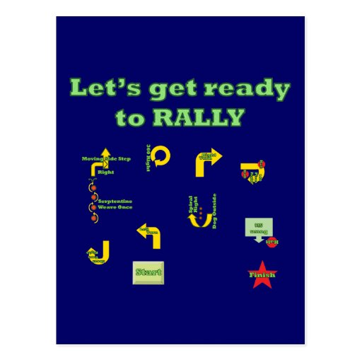 Let's Get Ready To Rally Postcard