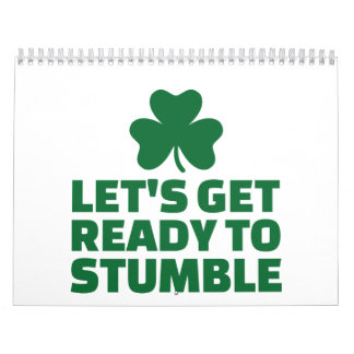 Let's get ready to stumble wall calendar