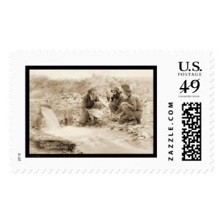 Let's Get  Rich Panning Gold SD 1889 Postage Stamp