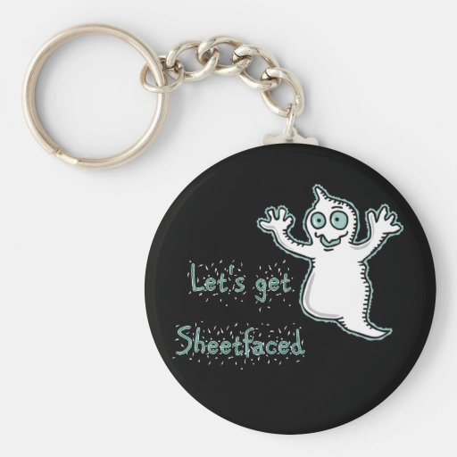 Let's Get Sheetfaced Halloween Ghost keychain