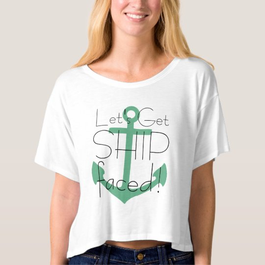Let 39 s get ship faced cruise tshirt zazzle for Custom t shirts international shipping