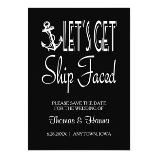 Let's Get Ship Faced Customized Card