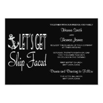 Let's Get Ship Faced Customized Invitation