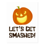 Let's Get Smashed Halloween Party Post Card