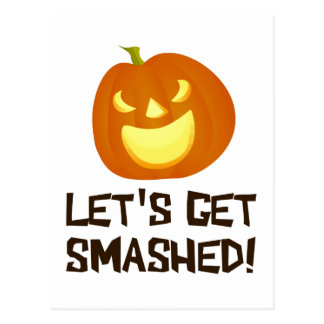 Let's Get Smashed Halloween Party Postcard