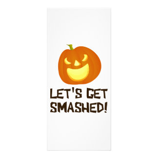 Let's Get Smashed Halloween Party Rack Card
