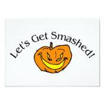 Lets Get Smashed Pumpkin 5x7 Paper Invitation Card