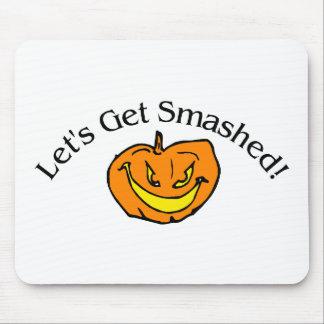 Lets Get Smashed Pumpkin Mouse Pads