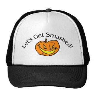 Lets Get Smashed Pumpkin Trucker Hat