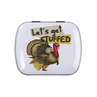 Let's get stuffed vintage thanksgiving dinner jelly belly tin