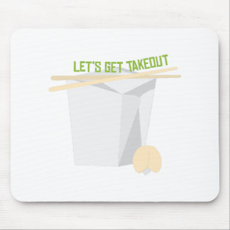 Let's Get Takeout Mouse Pad