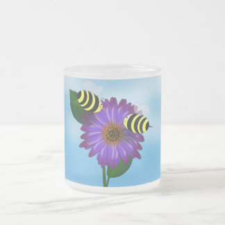 Let's Get Together (bees) Frosted Glass Coffee Mug