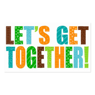 Let's Get Together! Double-Sided Standard Business Cards (Pack Of 100)