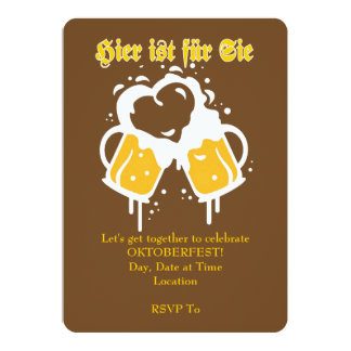 Let's Get Together Oktoberfest Party Invitations