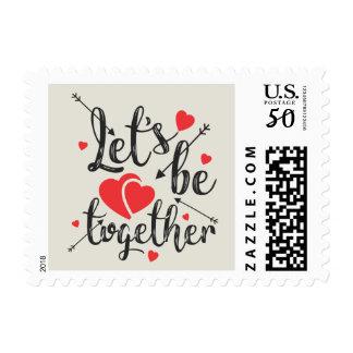 Let's Get Together Postage Stamp