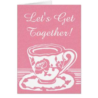 Let's Get Together! Rose Teacup Greeting Card