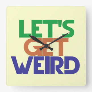 Lets get weird square wall clock