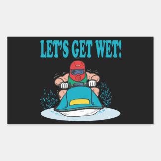Lets Get Wet Rectangular Sticker