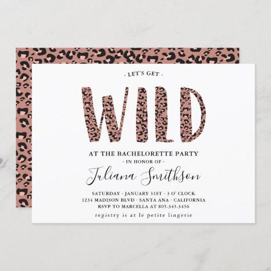 Bachelorette Invitation Let/'s Get Wild